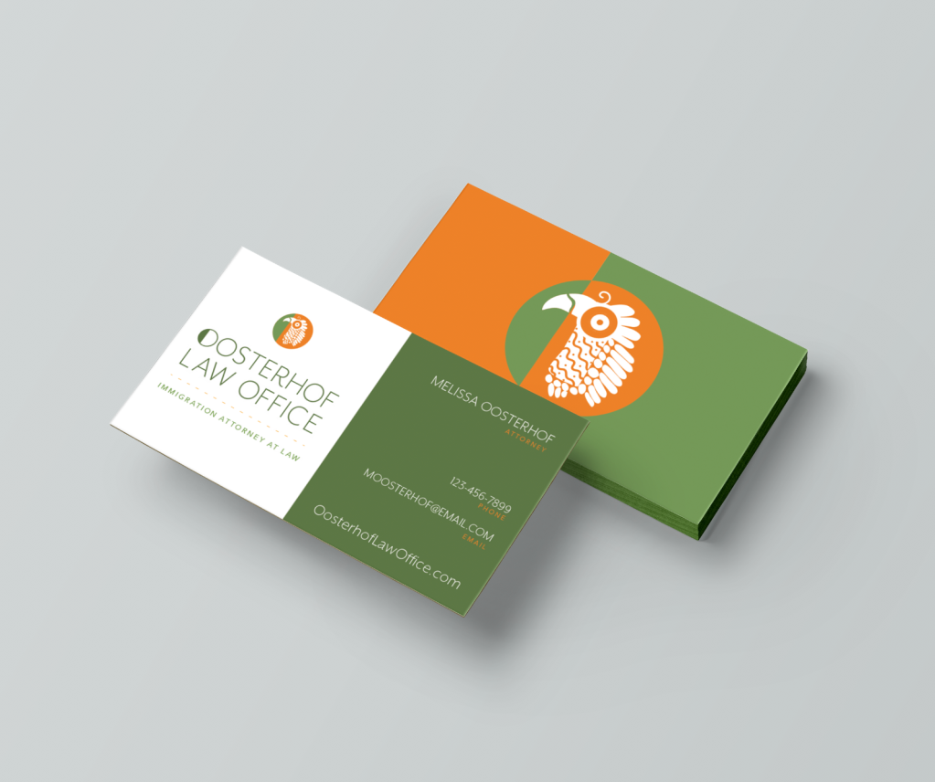 Oosterhof Law Office Business Cards
