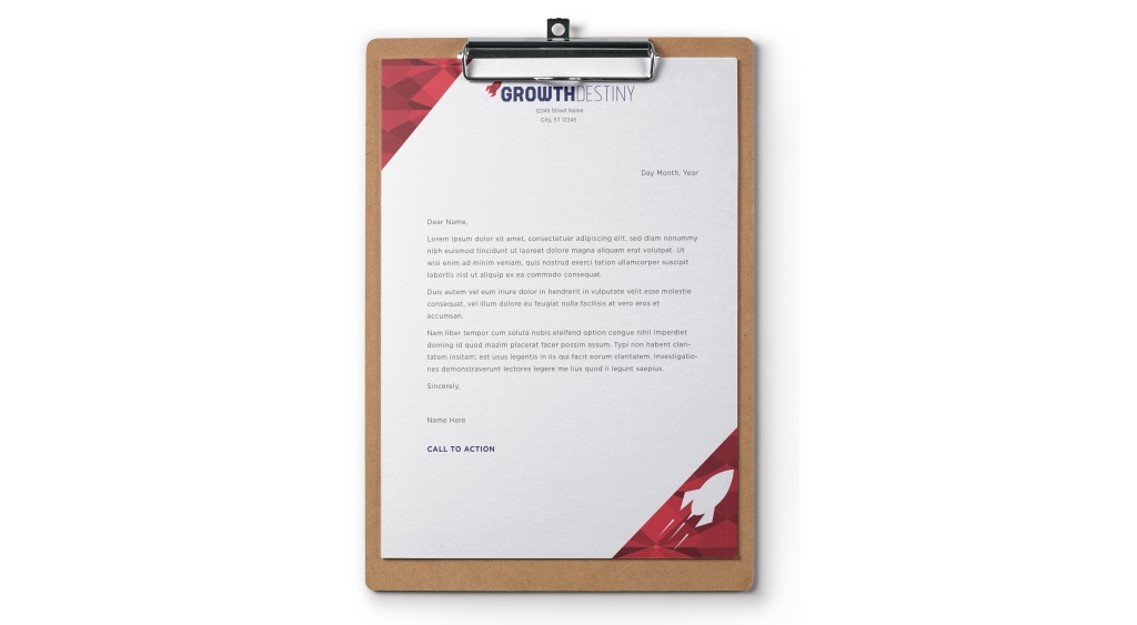 Growth Destiny Letterhead