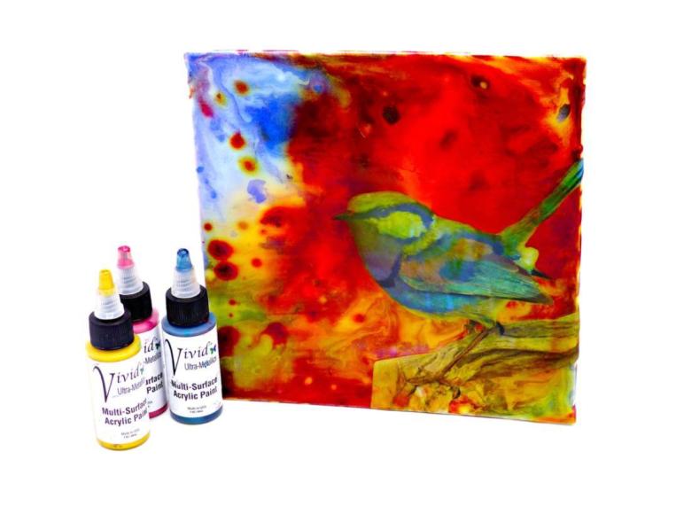 Yva Barbour Mixed Media Art Board Bird