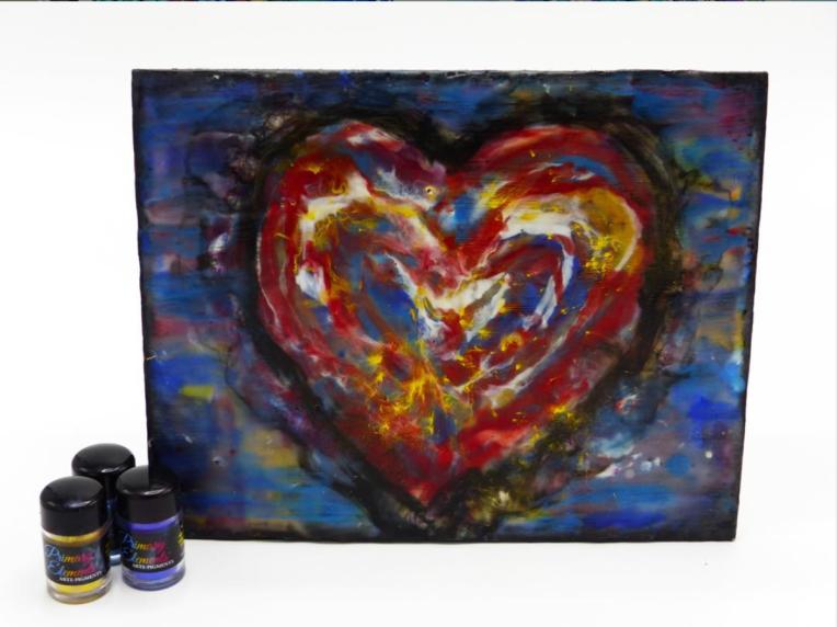 Yva Barbour Encaustic Heart