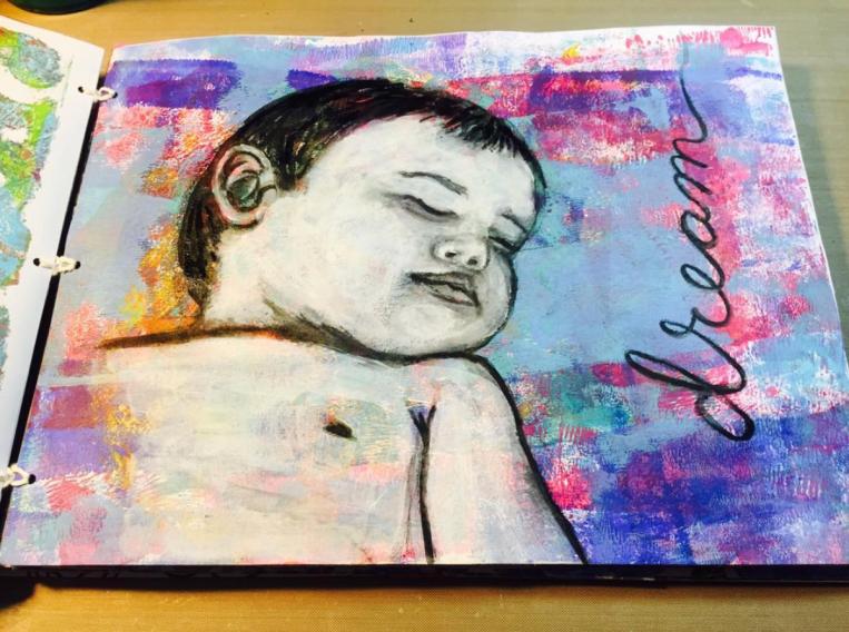 Yva Barbour Mixed Media Art Journal Baby Mine