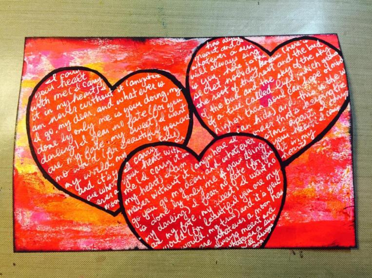 Yva Barbour Mixed Media Art Card Poem