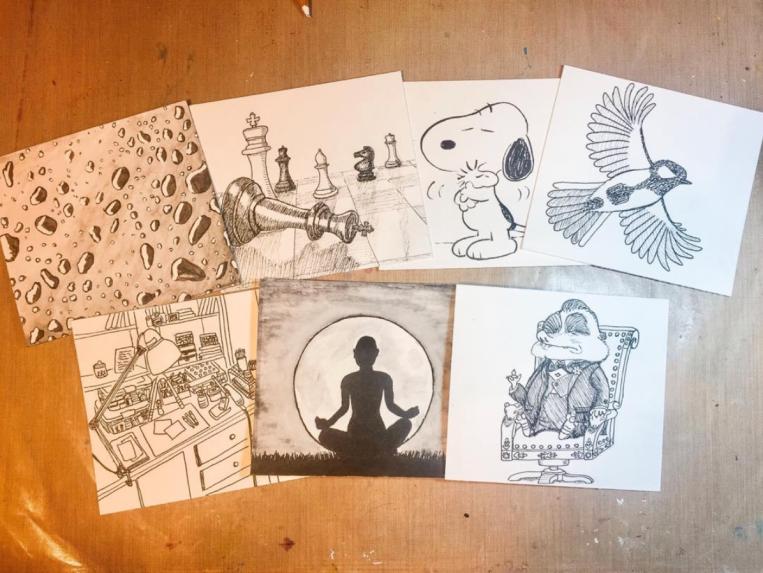 Yva Barbour Inktober Drawings Group