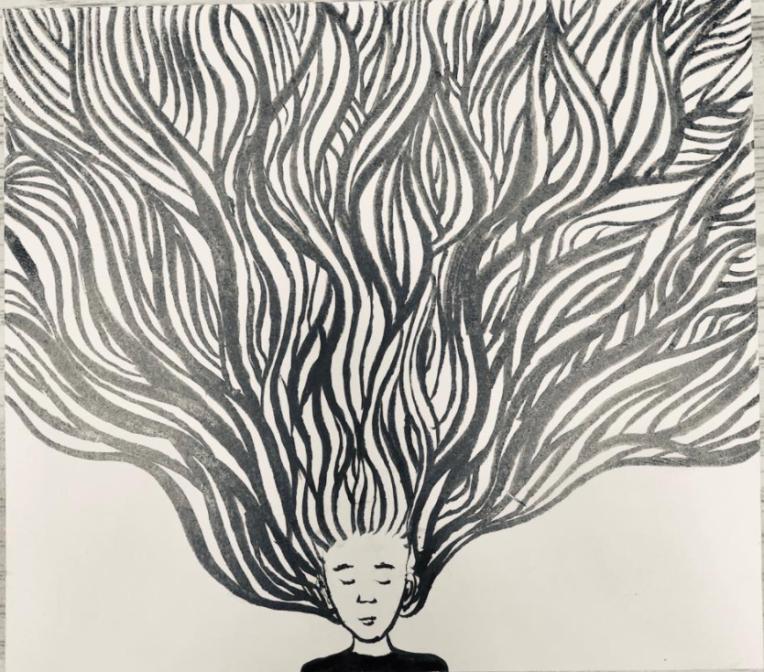 Yva Barbour Inktober Drawing Hair