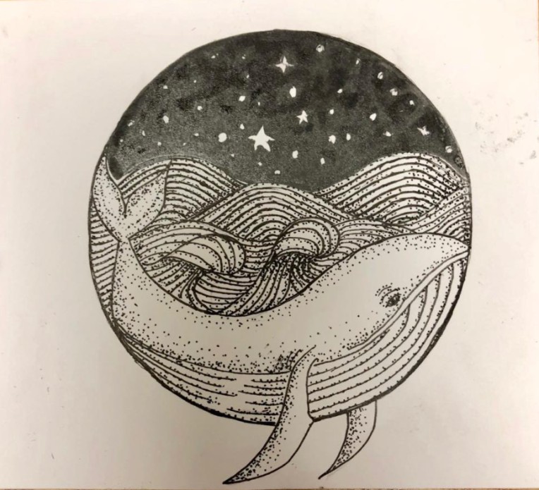 Yva Barbour Inktober Drawing Whale